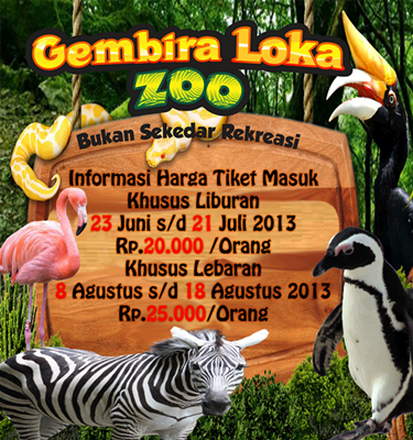 Kebun Binatang Gembira Loka Jogja Homestay Family Guest House Gembiraloka