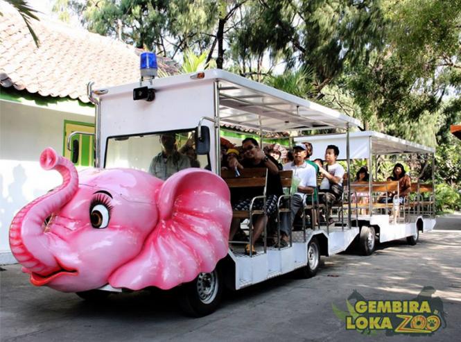 Kebun Binatang Gembira Loka Sebagai Tempat Wisata Edukasi Transportasi Keliling
