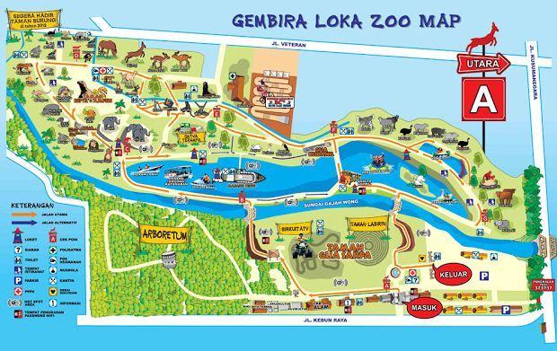 Kebun Binatang Gembira Loka Yogyakarta Panduan Wisata Jogja Obyek Bonbin