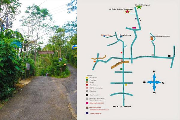 Peta Kebun Teh Nglinggo Yogjo Info Lengkap Tempat Wisata Hotel