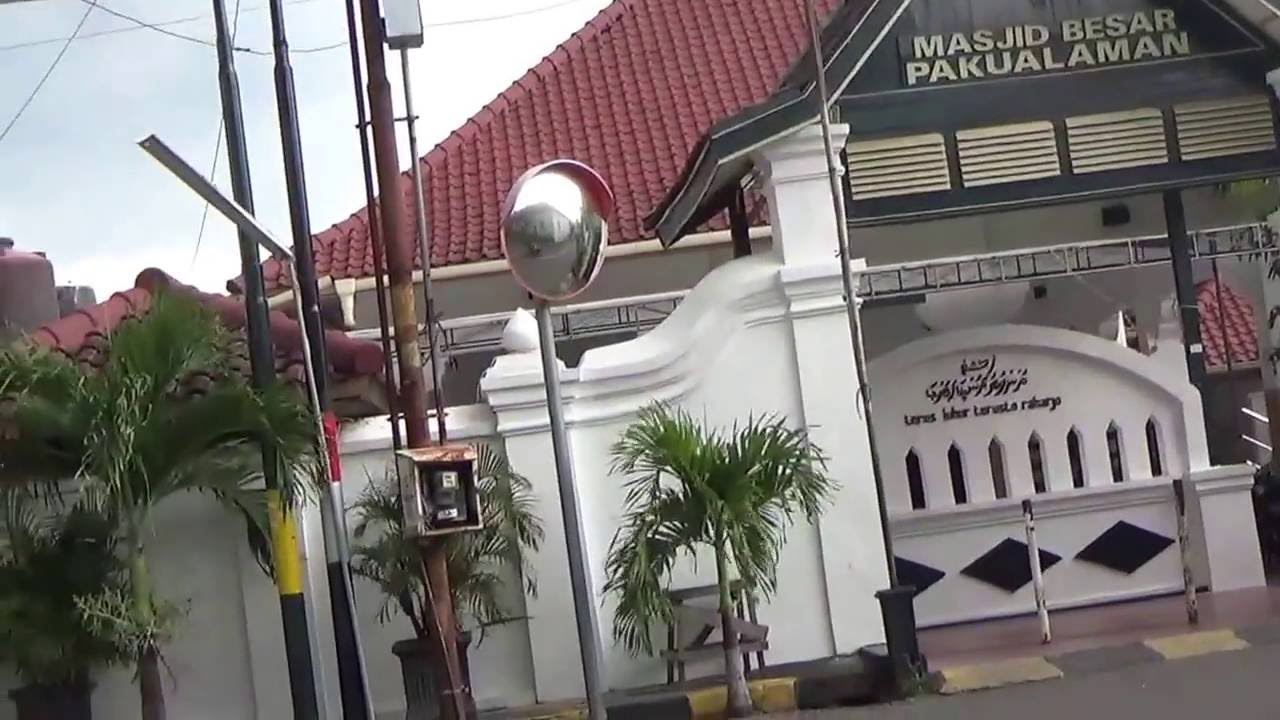 Mengintip Puro Pakualaman Yogyakarta Indonesia Jalan Kota Siang Hari Masjid