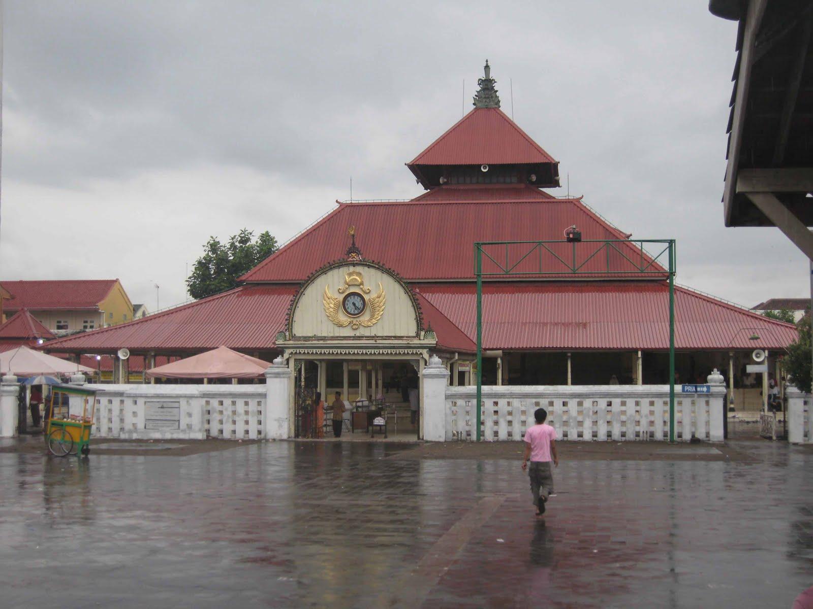 Masjid Kauman Gede Keraton Wisata Yogyakarta Gedhe Kota