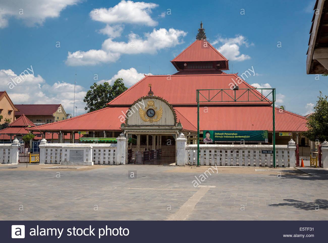 Yogyakarta Java Indonesia Great Mosque Masjid Gedhe Kauman Stock Mid