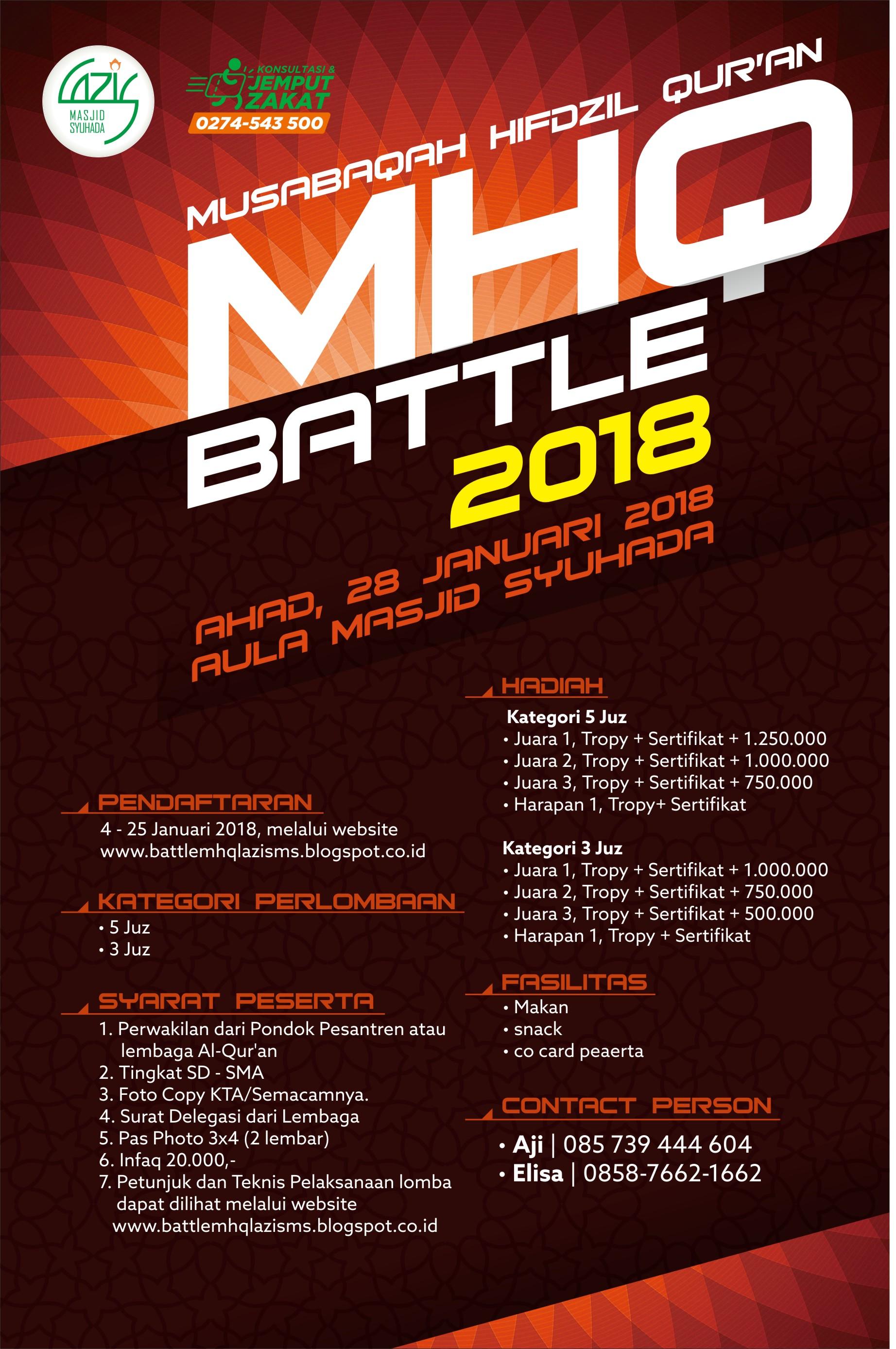 Lazis Syuhada Musabaqah Hifdzil Qur Mhq Battle 2018 Se Yogyakarta