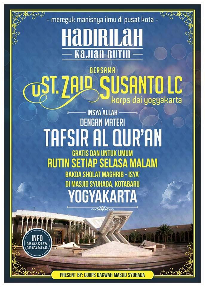 Masjid Syuhada Muslim Yogyakarta Kajian Rutin Malam Rabu Kota