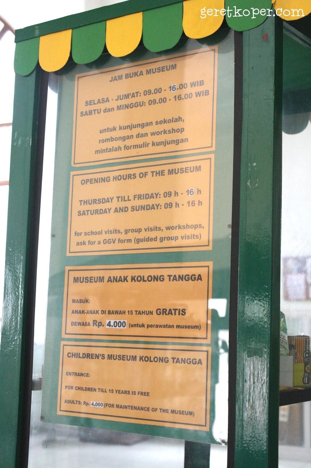 Berkunjung Museum Anak Kolong Tangga Yogyakarta Geret Koper Harga Tiket