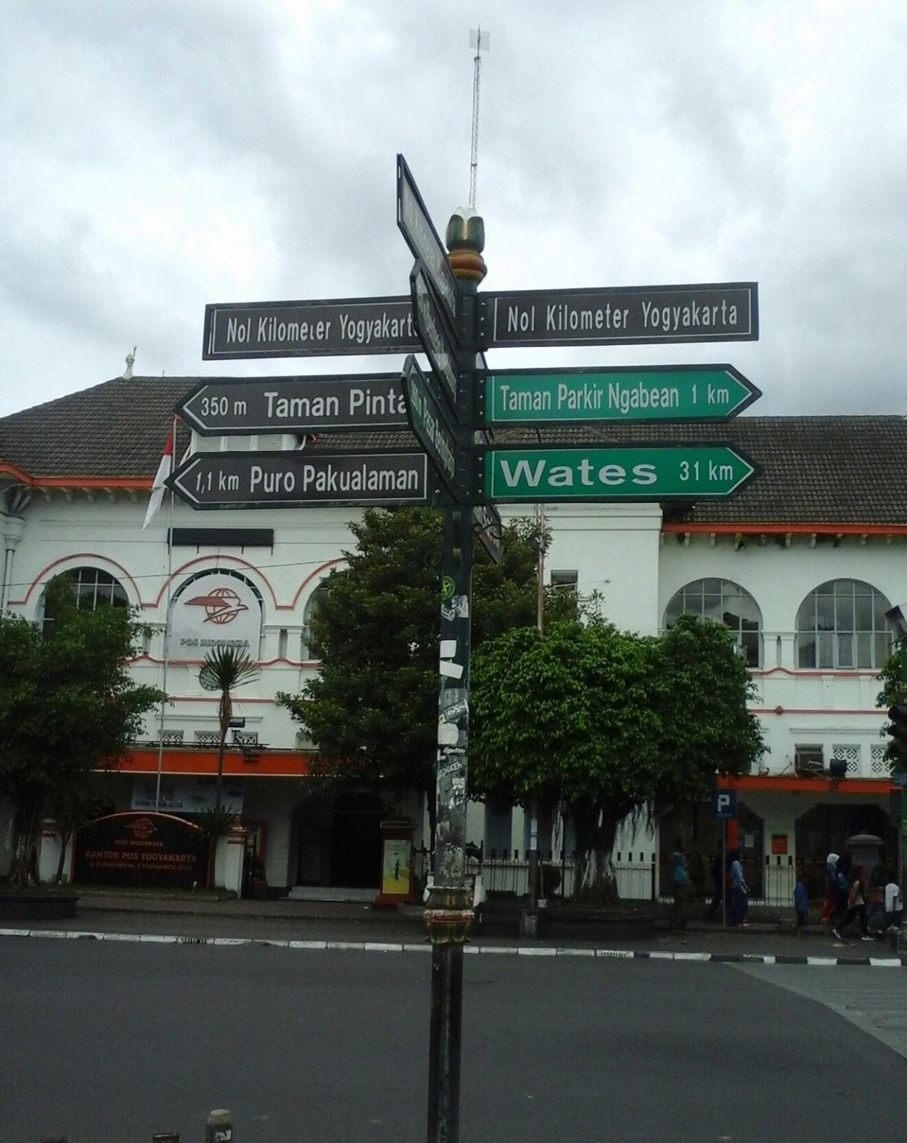 Pionbaja Obyek Wisata Sekitar Titik Nol Yogya Kilometer Yogyakarta Km