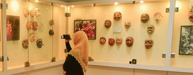 Mask Room Museum Sonobudoyo Yogyakarta Topeng 1 Unit Galeri Kota