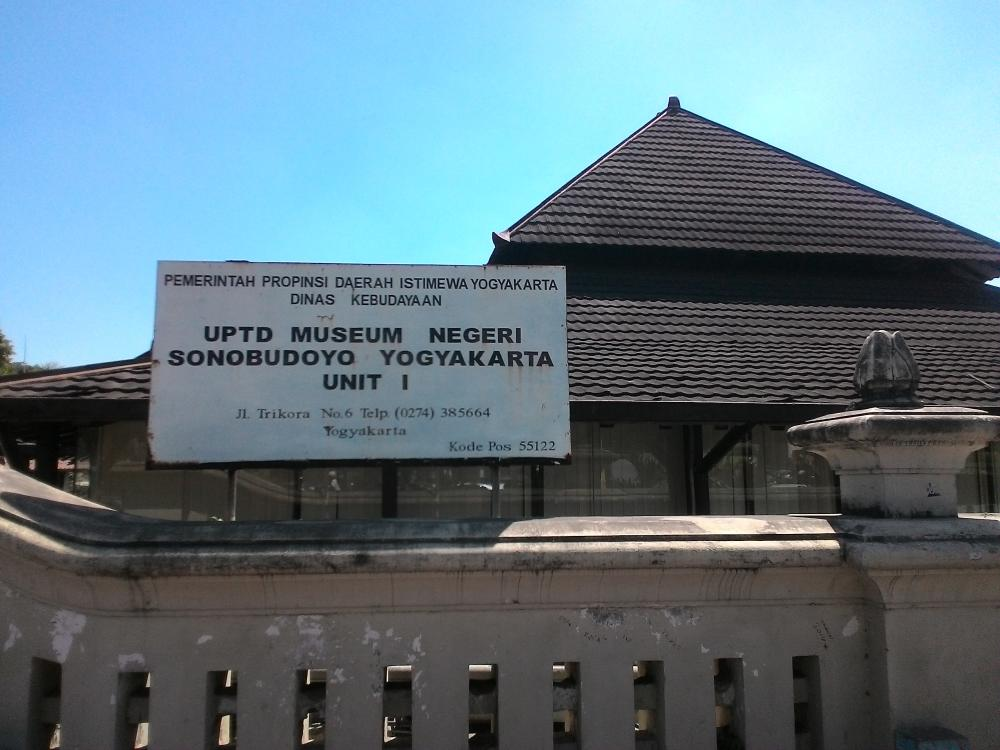 Museum Sonobudoyo Unit Jogja Budaya Sebagai Galeri Kota Yogyakarta