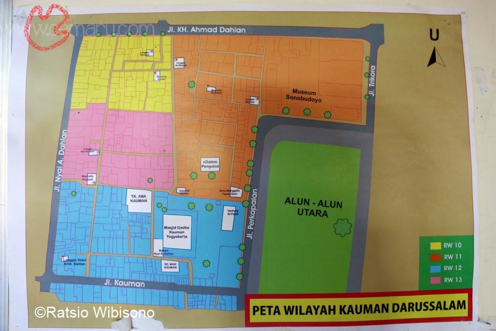 Keliling Yogyakarta Kampung Kauman Cemaru Peta Wisata Kota